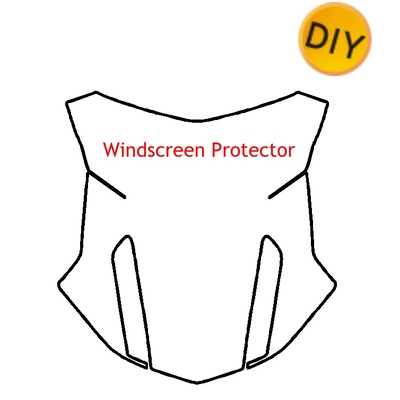 BMW R1250GS Adventure (2019-) High Windscreen Protection Film Kit DIY